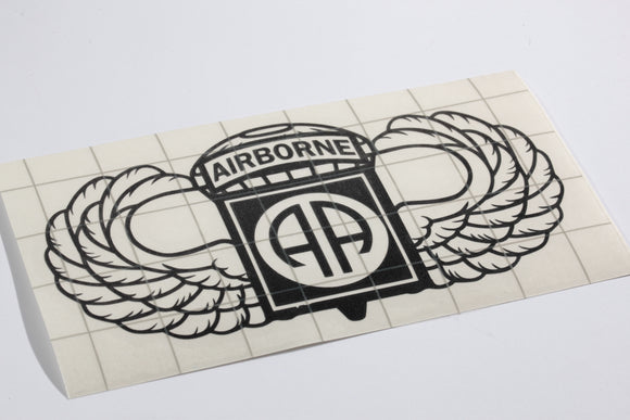 82nd Airborne with Wings vinyl decal
