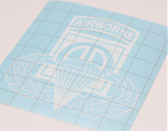 82nd Airborne with Basic Wings Vinyl Decal