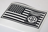 82nd Airborne in US Flag Vinyl Decal