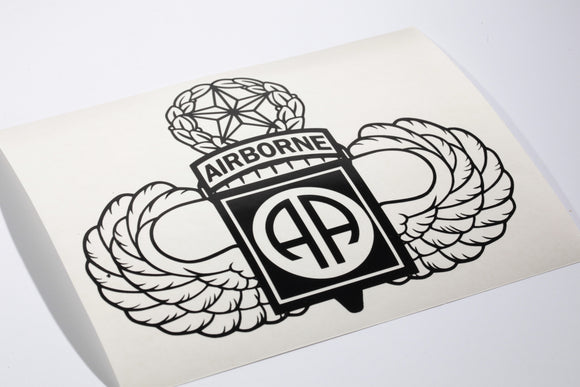 82nd Airborne with Master Wings vinyl decal