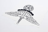 Freefall High Altitude Low Opening (HALO) badge Vinyl Decal