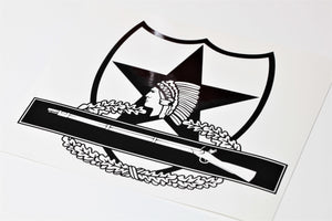 2nd Infantry Combat Infantry Badge CIB vinyl decal