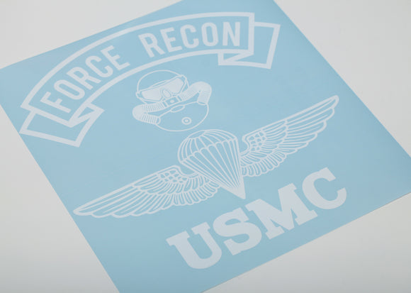 Force Recon Combatant Diver and Parachutist Vinyl Decal