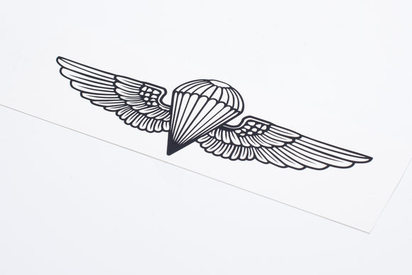 Naval Parachutist badge Vinyl Decal