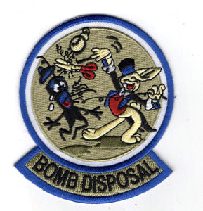 EOD WWII Magic Rabbit patch with Bomb Squad tab