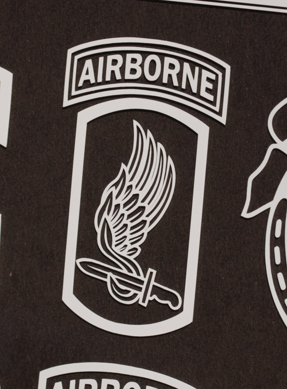 173rd Airborne patch vinyl decal
