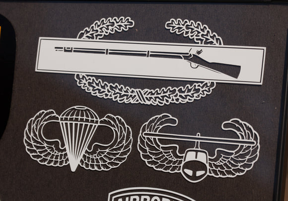 Combat Infantry  Badge (CIB) Airborne and Air Assault Vinyl Decal