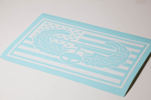 Air Assault Flag Vinyl Decal