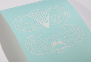 Airborne and Air Assault Combo Vinyl Decal