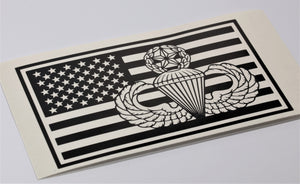 Airborne Master Flag Vinyl Decal