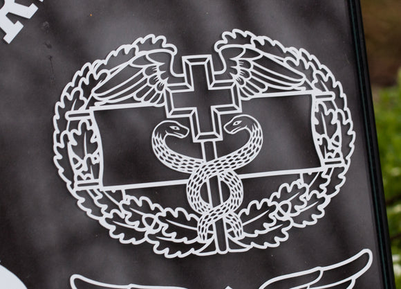 Combat Field Medical Badge (CFMB) Vinyl Decal