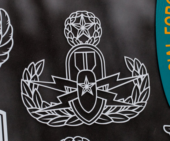 Explosive Ordnance Disposal EOD Basic Senior or Master Vinyl Decal