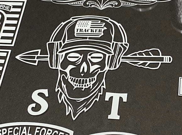 Sonar Technician skull vinyl decal