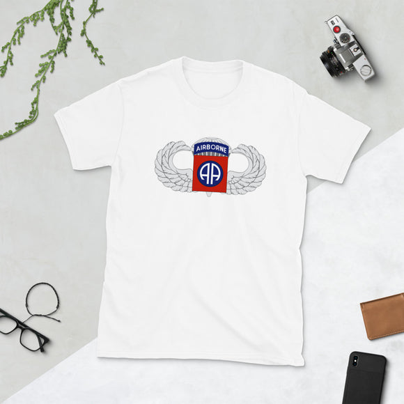 82nd Airborne Patch and Wings T-Shirt