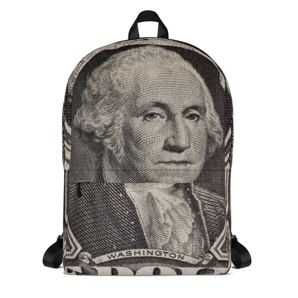 George Washington Dollar Bill Backpack