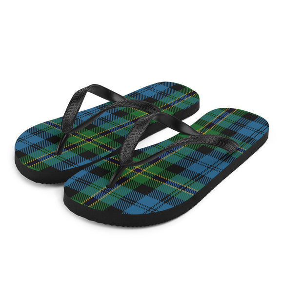 Navy Polaris Military Submariner Tartan Flip-Flops