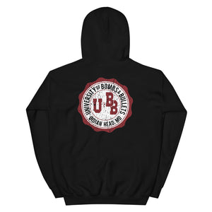 University of Bombs and Bullets Indian Head Aged Unisex Hoodie