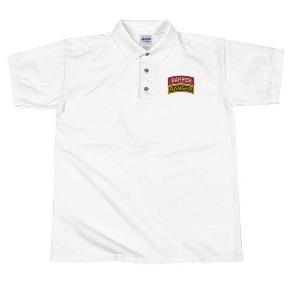 Sapper and Ranger tabs Embroidered Polo Shirt