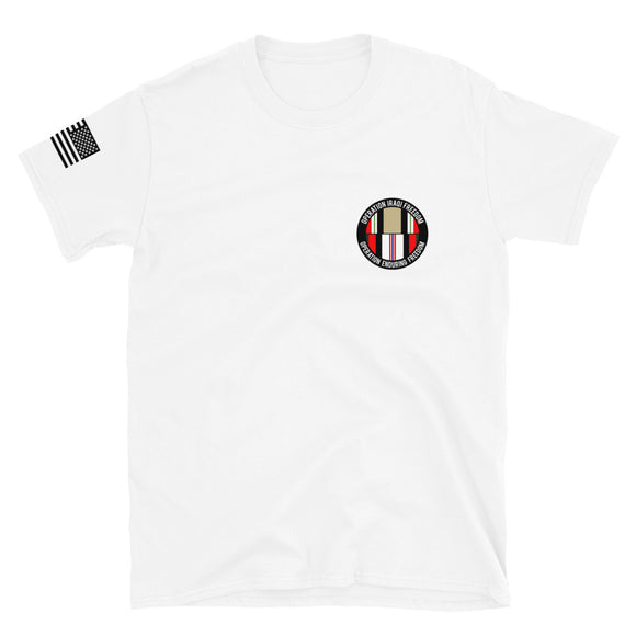 OIF and OEF Veteran with US Flag Short-Sleeve Unisex T-Shirt