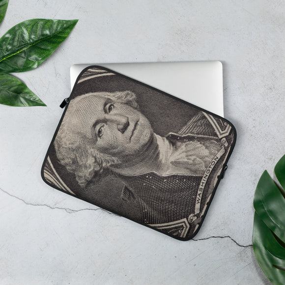 George Washington Dollar Bill Laptop Sleeve