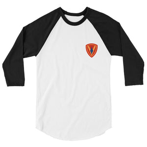 5th Marines 3/4 sleeve raglan shirt