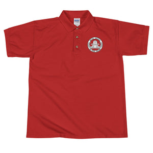 EOD Senior badge and motto Initial Success or Total Failure Embroidered Polo Shirt