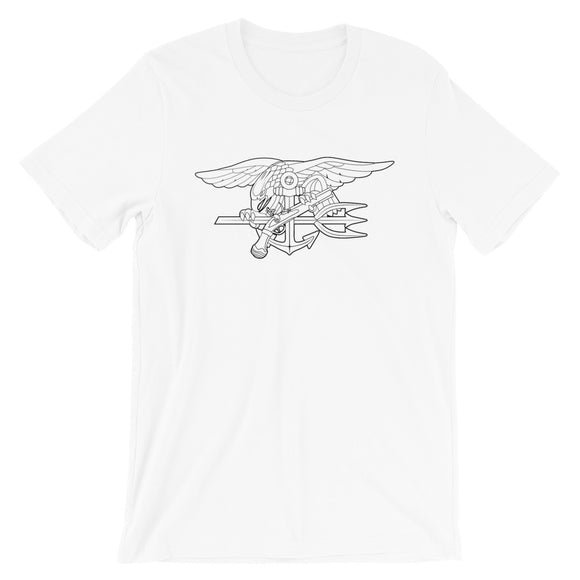Navy SEALs Trident outline Short-Sleeve Unisex T-Shirt