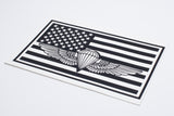 Naval Parachutist badge in Flag Vinyl Decal