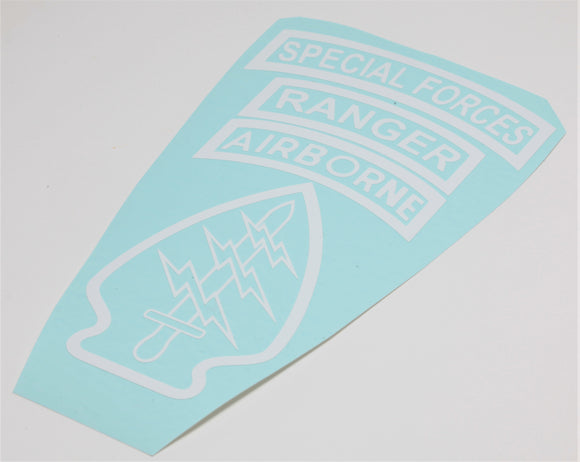 Special Forces Patch Vinyl Decal