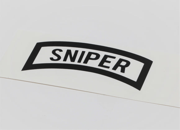 Sniper Tab Vinyl Decal