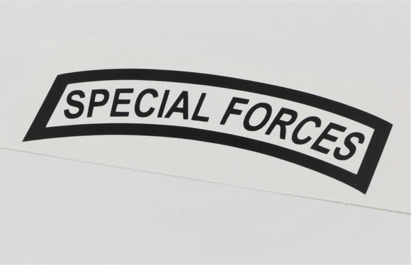 Special Forces Tab Vinyl Decal