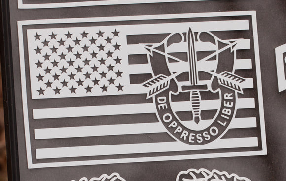 Special Forces Unit Insignia Flag Vinyl Decal