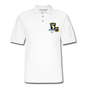 502nd CIB Airborne Men's Pique Polo Shirt - white