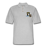 502nd CIB Airborne Men's Pique Polo Shirt - heather gray