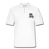 506th BN 101st Airborne CIB Men's Pique Polo Shirt - white