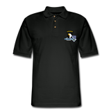 506th BN 101st Airborne CIB Men's Pique Polo Shirt - black