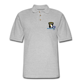 506th BN 101st Airborne CIB Men's Pique Polo Shirt - heather gray
