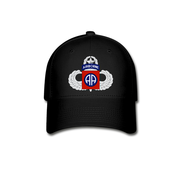 82nd Airborne Master Baseball Cap - black