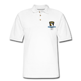 101st Airborne CIB Wings Men's Pique Polo Shirt - white