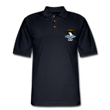 101st Airborne CIB Wings Men's Pique Polo Shirt - midnight navy