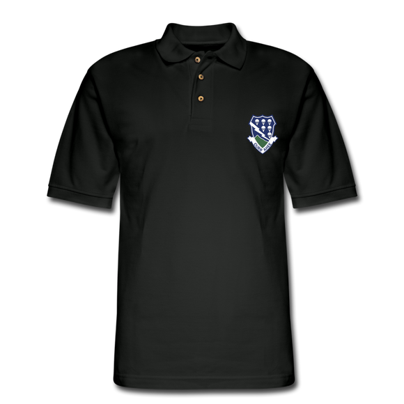 506th PIR Curr Ahee Men's Pique Polo Shirt - black