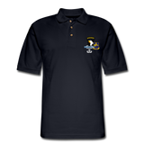 502ND BN 101ST AIRBORNE CIB AIRBORNE Master Men's Pique Polo Shirt - midnight navy