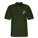 502ND BN 101ST AIRBORNE CIB AIRBORNE Master Men's Pique Polo Shirt - forest green
