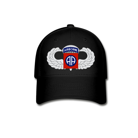 82nd Airborne Baseball Cap - black