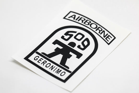 509th Airborne Infantry vinyl decal