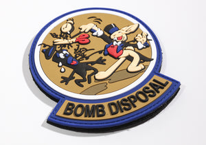 EOD WWII Magic Rabbit patch with Bomb Squad tab PVC