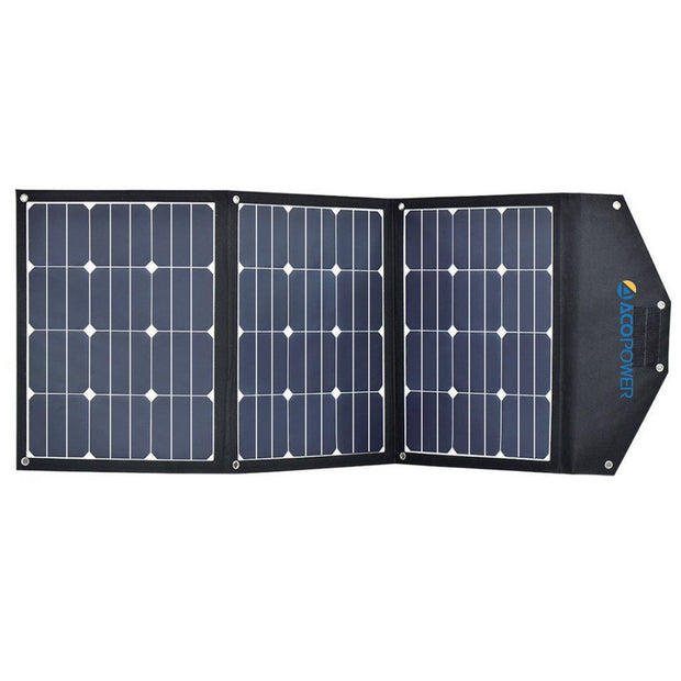ACOPOWER 90W Foldable Solar Suitcase, without Charge Controller - acopower