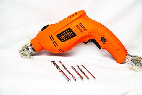"TALADRO MARTILLO (HAMMER DRILL) DE 3/8"" - BLACK & DECKER (TB555KV-B3)"