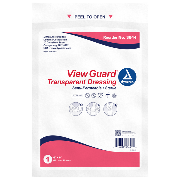 "View Guard Transparent Dressings Sterile 6"" x 8"""