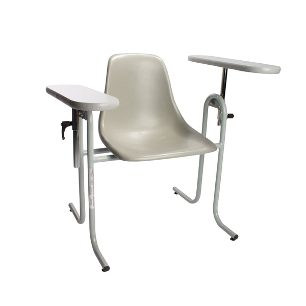 Straight Arm Plastic Blood Draw Chair